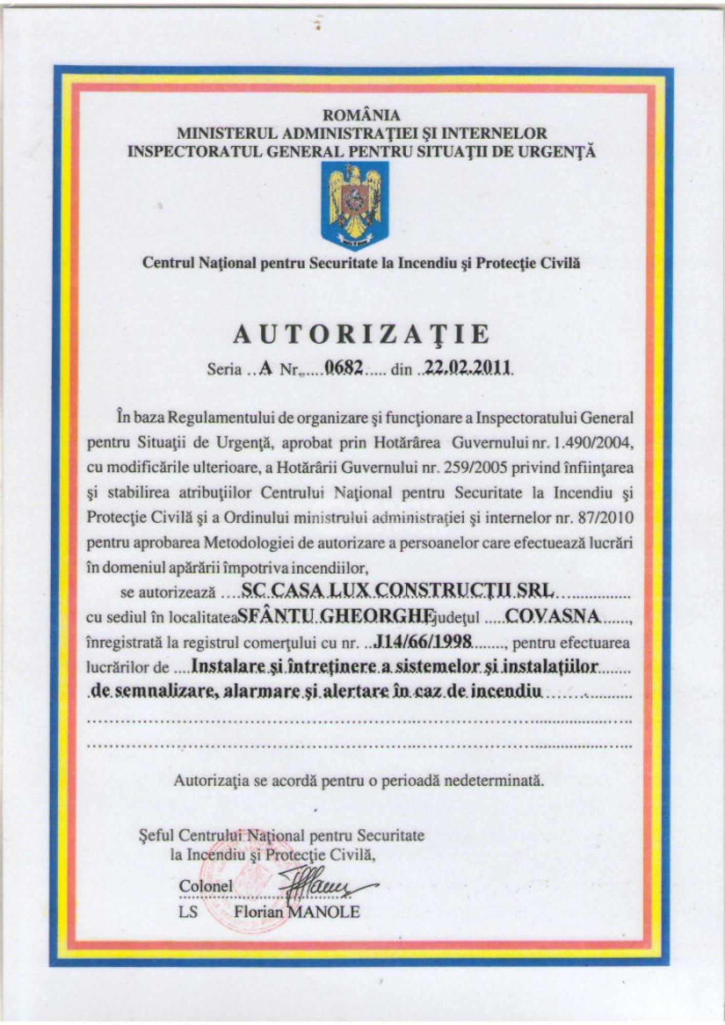 Autorizări 10