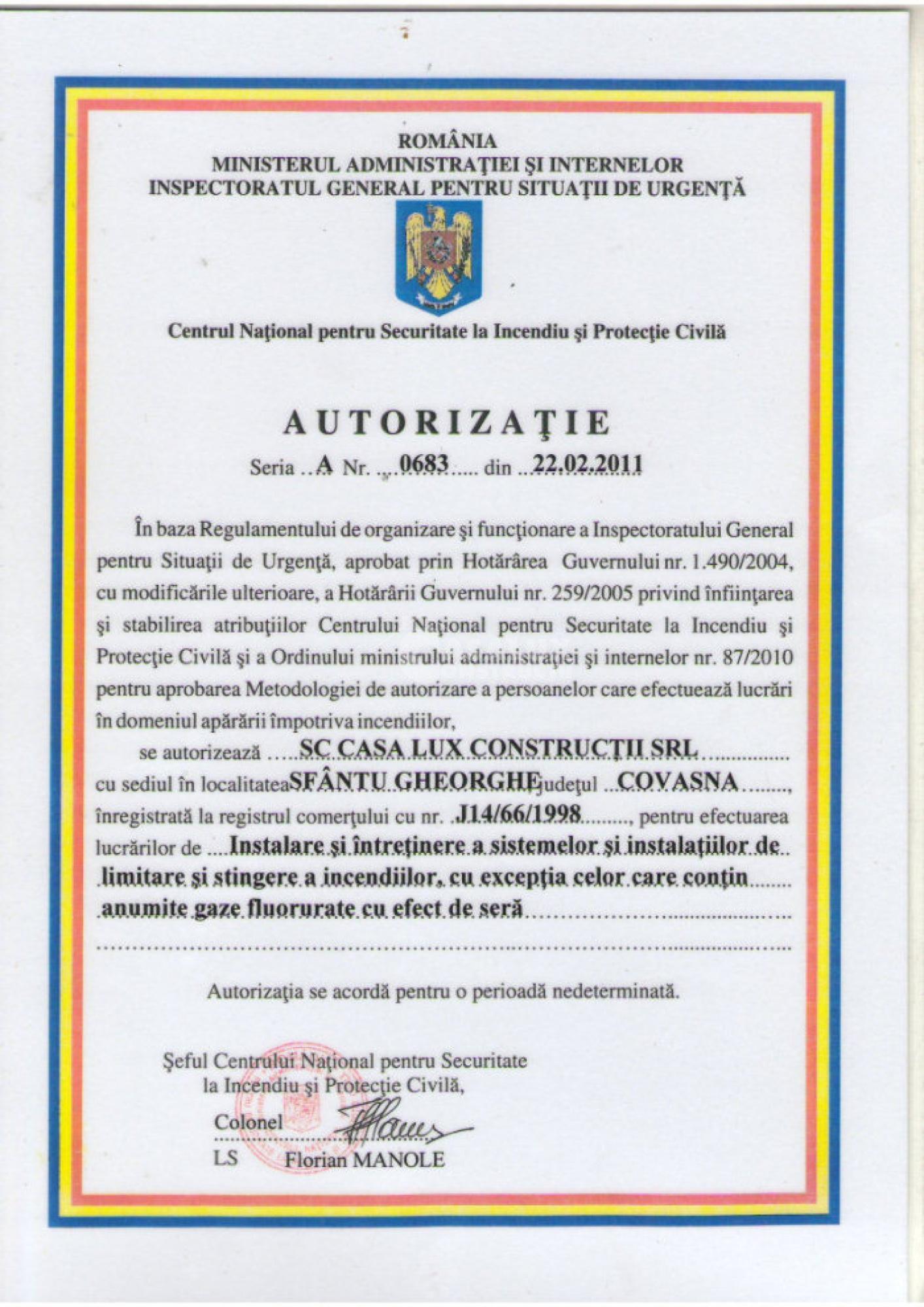 Autorizări 11