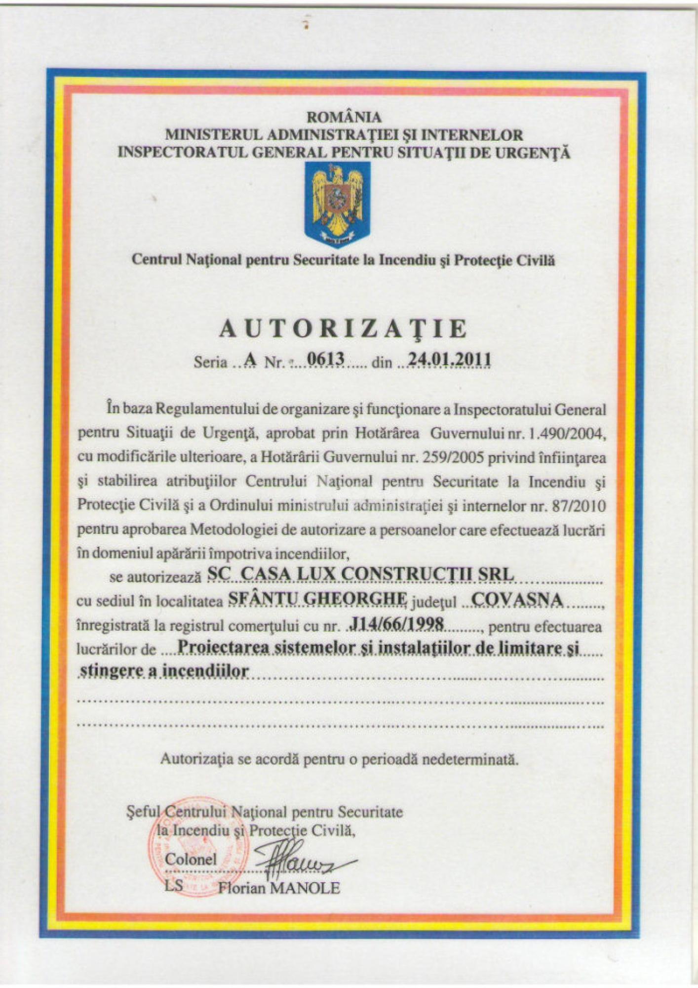 Autorizări 16